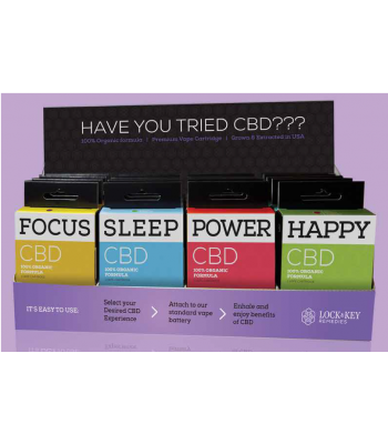 FOCUS - SLEEP - POWER- HAPPY VAPE CARTRIDGES