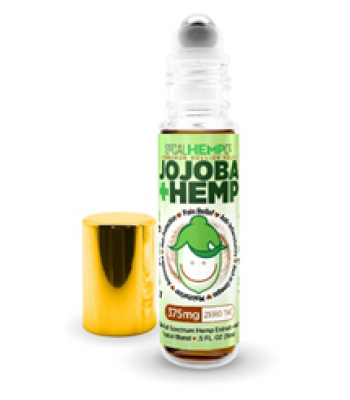 375mg Menthol Jojoba + Hemp Roll-On Relief