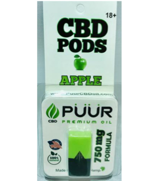 CBD PODS 750mg APPLE