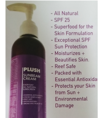 Plush Sunbeam Cream 250 mg 4 oz